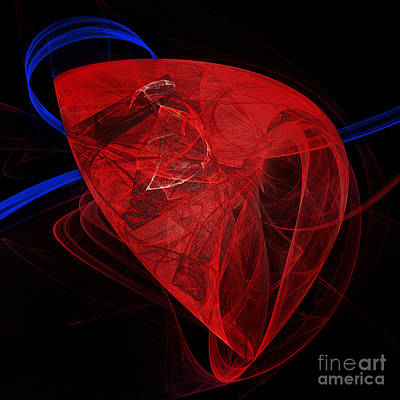 Digital Art - Human Heart Abstract Square  by Andee Design