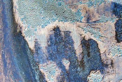 Photograph - Just This Side Of Blue Moon Abstract by Lee Craig