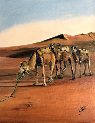 Just Us Camels Art Print