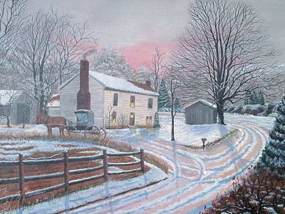 Horse And Buggy Painting - Just Visiting by Seth Wade