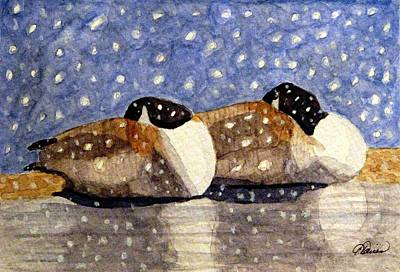 Waterfowl Painting - Just We Two by Angela Davies