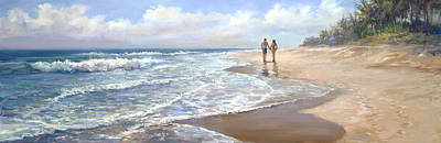 Seashore Painting - Just We Two by Laurie Hein