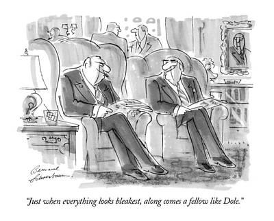 Senate Drawing - Just When Everything Looks Bleakest by Bernard Schoenbaum