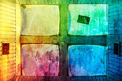 Just Window 2 - Colorful Art Print