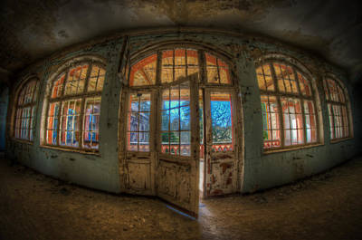 Creepy Digital Art - Just Windows And A Door by Nathan Wright