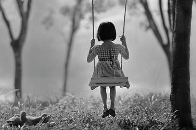 Swings Wall Art - Photograph - Just (you And) Me by Raymond Sitanggang