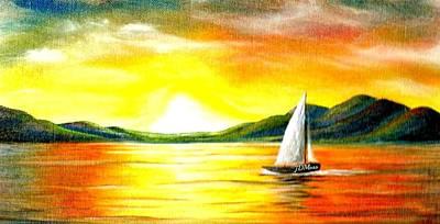 Justa Sailing Art Print by Janet Moss
