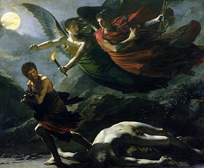 Justice And Divine Vengeance Pursuing Crime Art Print by Pierre-Paul Prud'hon