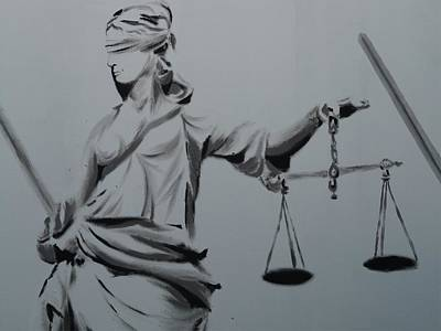 Law Courts Painting - Justice by FL collection