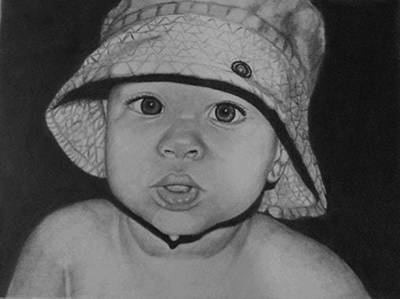 Drawing - Innocence by Phyllis Anne Taylor Pannet Art Studio