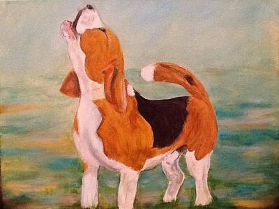 Painting - Justin Beagle by Maureen Pisano