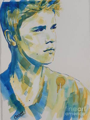 Chrisann Painting - Justin Bieber by Chrisann Ellis