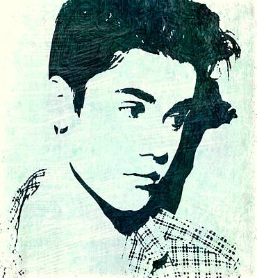 Justin Bieber In Blues Art Print by ABA Studio Designs