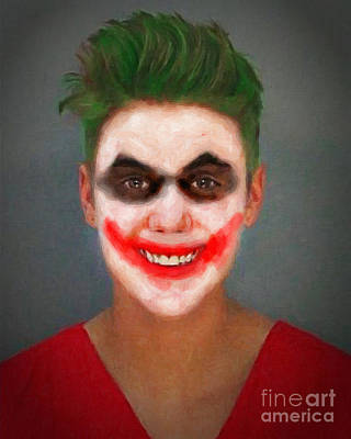 Evil Clown Painting - Justin Bieber Joker by Antony McAulay