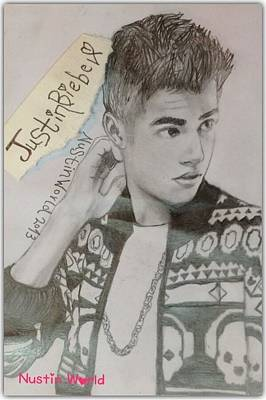 Justin Bieber Drawing Drawing - Justin Bieber Neo by Nustin World