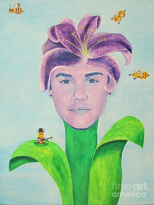 Justin Bieber Painting Art Print by Jeepee Aero