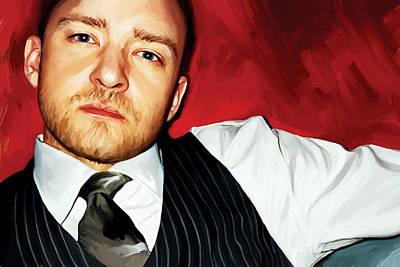 Songwriter Mixed Media - Justin Timberlake Artwork by Sheraz A