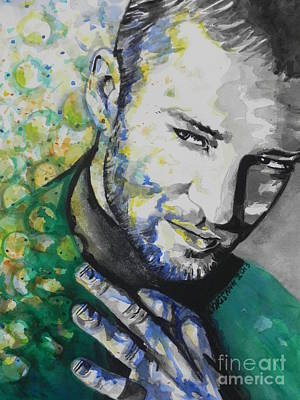 Music Paintings - Justin Timberlake...01 by Chrisann Ellis