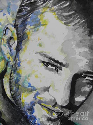 Music Paintings - Justin Timberlake...02 by Chrisann Ellis
