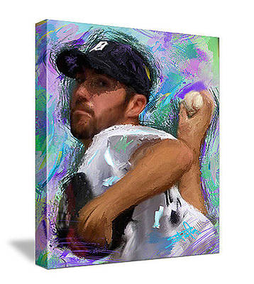 Detroit Tigers Painting - Justin Verlander by Donald Pavlica