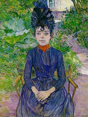 Justine Painting - Justine Dieuhl by Toulouse-Lautrec