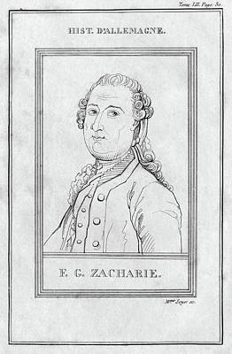 Painting - Justus Zachariae (1726-1777) by Granger