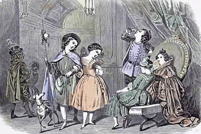 Juvenile Fancy Ball Paris Children 1847 Bals Costums Paris Art Print by English School