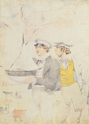 Child Model Photograph - Juvenile Members Of The Yacht Club, 1853 Wc & Graphite On Paper by Richard Dadd