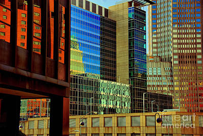 Juxtaposition Of Pittsburgh Buildings Print by Amy Cicconi