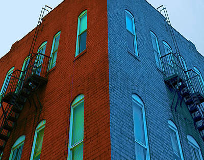 Juxtaposition - Old Building Art Print by Denise Beverly