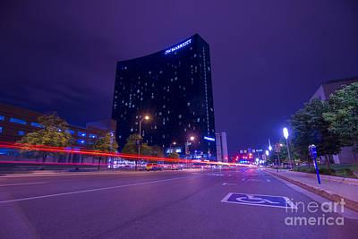 Photograph - Jw Marriott Light Streaks by David Haskett II