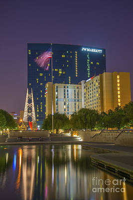Photograph - Jw Marriott Night by David Haskett II