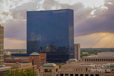 Photograph - Jw Marriott Sunset May 2013 by David Haskett II