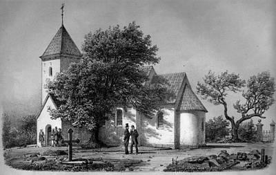 Jylland Thorstrup Kirke 1867 Print by Celestial Images