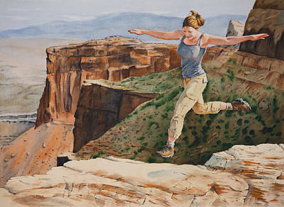 Painting - Jynn's Leap by Christopher Reid