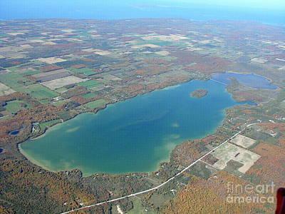 Photograph - K-012 Kangaroo Lake Fall Door County Wisconsin by Bill Lang