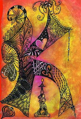 Painting - K-zen by Kelly Dallas