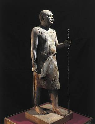 Statue Portrait Photograph - Ka-aper Lcalled Sheikh El-beled. Ca by Everett