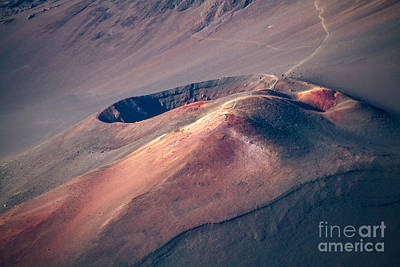 Photograph - Ka Lu'u O Ka 'o'o  And Sliding Sands Trail Keonehe'e Haleakala Maui Hawaii by Sharon Mau