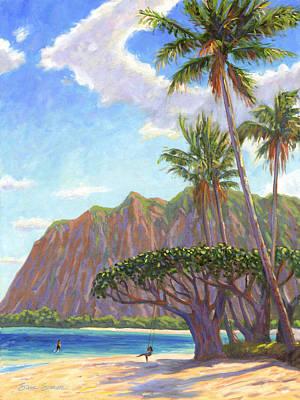 Oahu Wall Art - Painting - Kaaawa Beach - Oahu by Steve Simon
