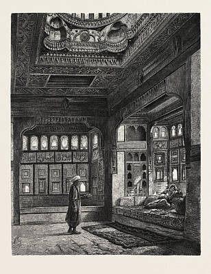 Kaah In The Harem Of Sheykh Sadat Art Print