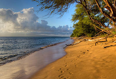 Kaanapali Beach Stroll Art Print by Heidi Smith