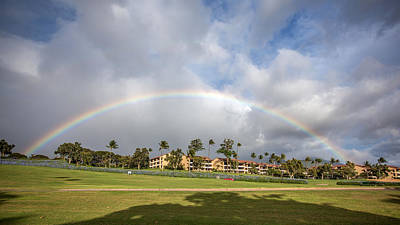 Photograph - Kaanapali Maui Rainbow by Pierre Leclerc Photography