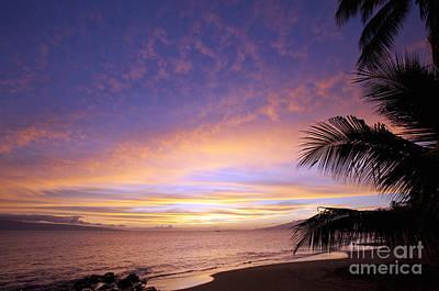 Photograph - Ka'anapali Sunset by David Olsen