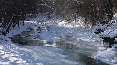 Photograph - Kaaterskill Creek Below The Tannery Bridge Palenville Ny by Terrance DePietro