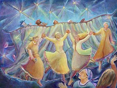 Kabbalat Shabbat 3 Art Print by Chana Helen Rosenberg