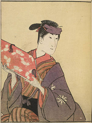 Roles Photograph - Kabuki Actor In Female Role by British Library