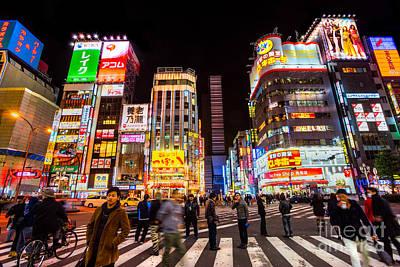 Redlight Photograph - Kabuki-cho District - Shinjuku -tokyo - Japan by Luciano Mortula