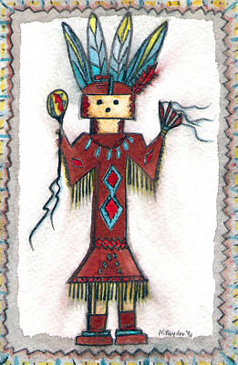 Painting - Kachina Doll by Nancy Taylor