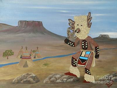 Kachina Owl Dancer Art Print